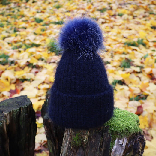 Chanterelle with fur Navy
